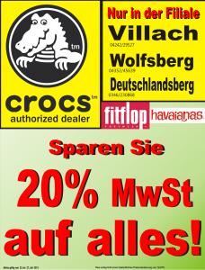 Crocs Aktion - 20% auf alles